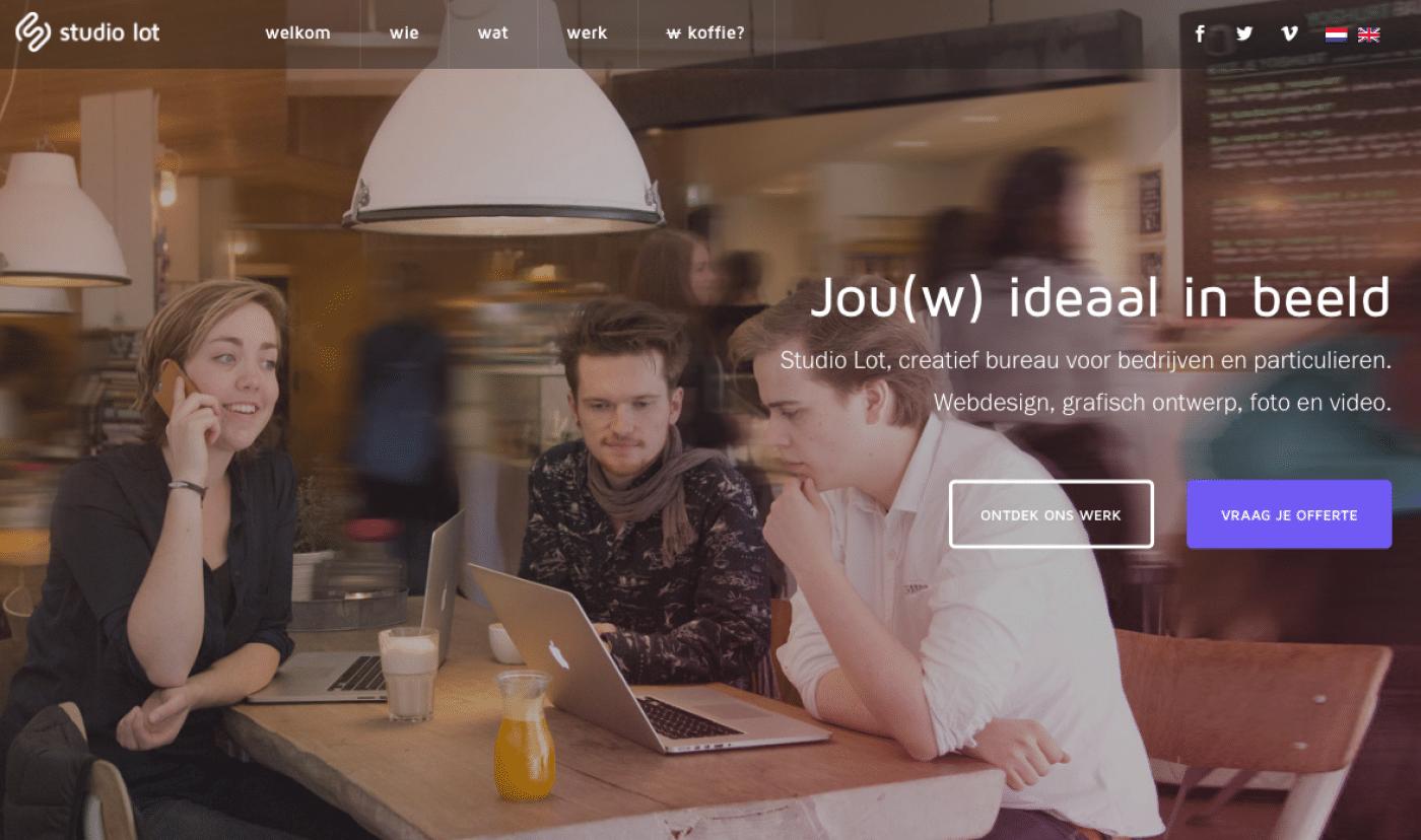 Samen met Studio Lot voor tekst én webdesign